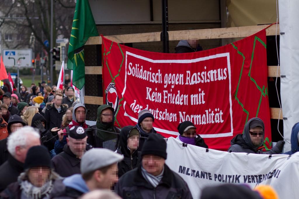 """""""Solidarisch gegen Rassismus - Kein Frieden mit der deutschen Normalität"""""""