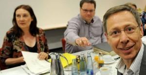 Grüne und SPD bei den Koalitionsverhandlungen // Foto: Weser-Kurier